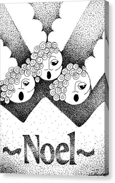 Noel Angels Canvas Print by Joy Bradley