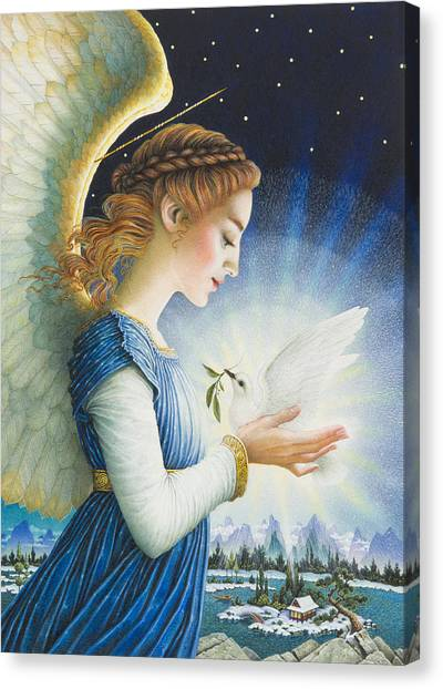 Angel Canvas Print - Noel by Lynn Bywaters