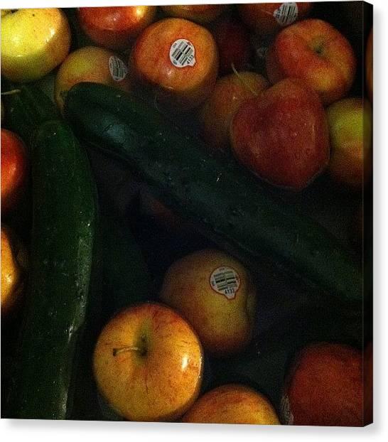 Vegetarian Canvas Print - #nofilter #veggiebath #tastemycellulose by Krystalynn Moore