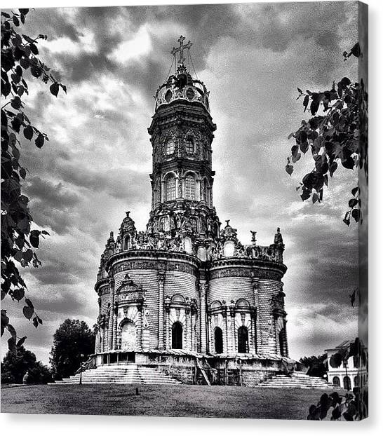 Baroque Art Canvas Print - #noir #bw #sky #emptiness #architecture by Max Lolinberg