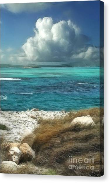 Sea Canvas Print - Nonsuch Bay Antigua by John Edwards