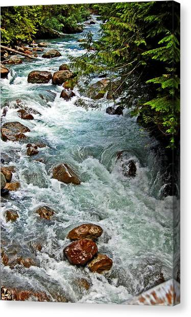Canvas Print - Nooksack River by Randall Templeton