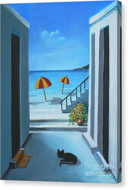 Noon At The Beach Canvas Print