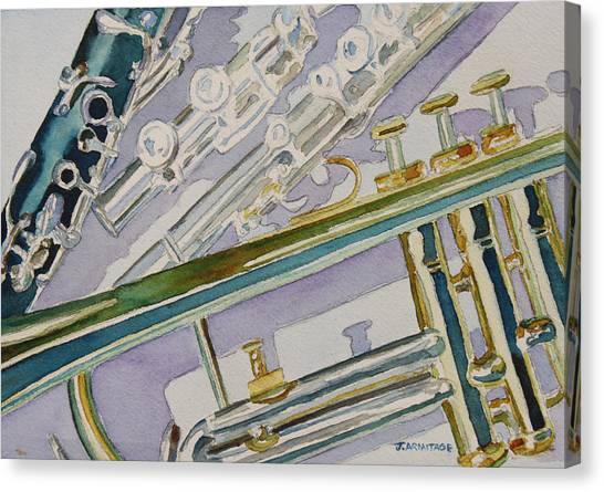 Clarinets Canvas Print - Noon Trio by Jenny Armitage