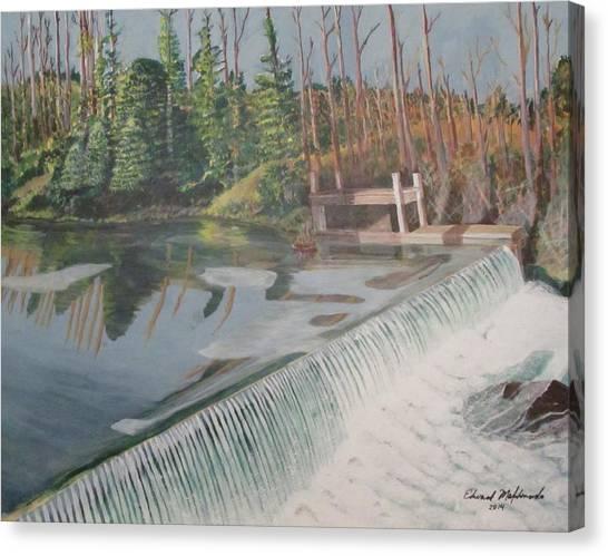 Nora Mill Waterfall Canvas Print