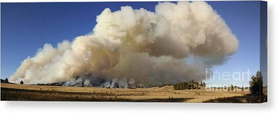 Norbeck Prescribed Fire Smoke Column Canvas Print