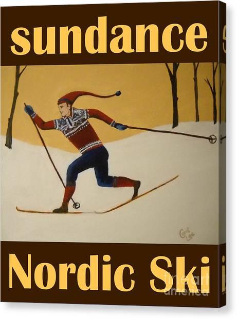 Nord Ski Poster Canvas Print