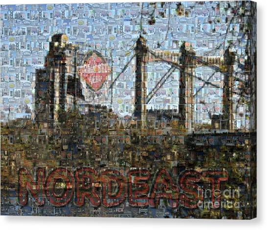 Nordeast Mosaic Canvas Print