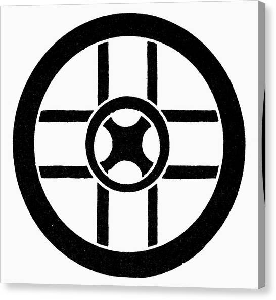 Nordic Symbol Wheel Cross Canvas Print by Granger