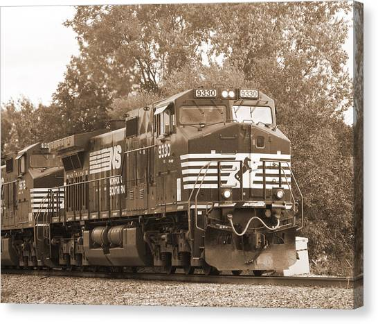 Norfolk Southern Freight Train Canvas Print