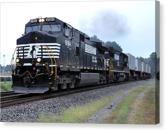 Norfolk Southern Pig Train Canvas Print