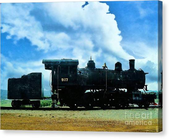 Norfolk Western Steam Locomotive 917 Canvas Print
