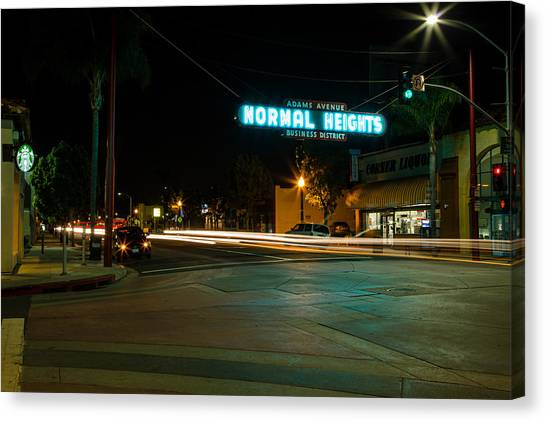 Normal Heights Neon Canvas Print