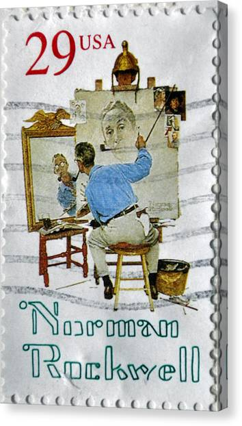 Norman Rockwell Canvas Print