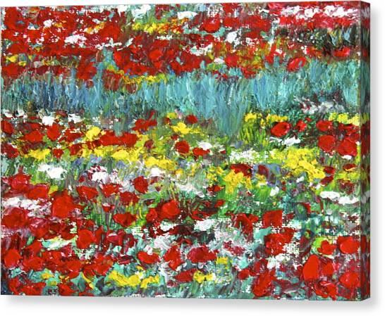 Normandy Poppy Field Dreams  II Canvas Print