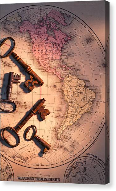 Venezuelan Canvas Print - North America And Old Keys by Garry Gay