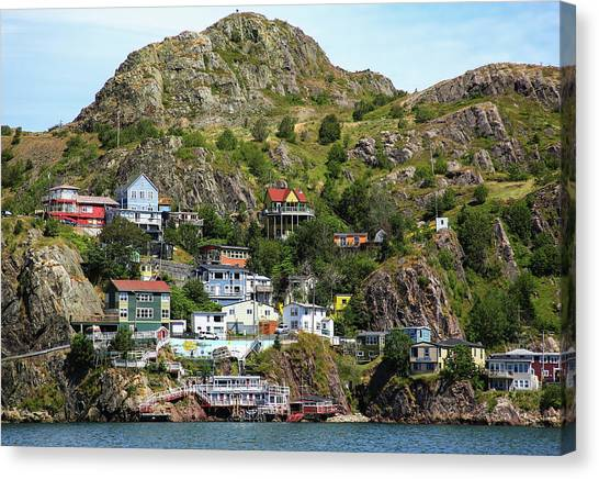 Newfoundland And Labrador Canvas Print - North America, Canada, Nl, The Battery by Patrick J. Wall