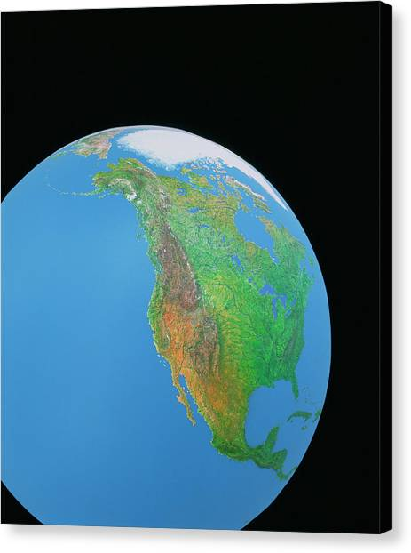 Mountain West Canvas Print - North America by Julian Baum & David Angus/science Photo Library