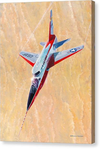 North American F-107a Ultra Sabre Canvas Print