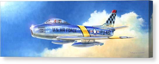 North American F-86f Sabre Canvas Print