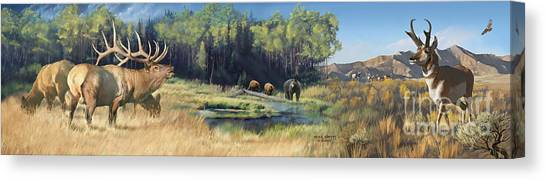 North American Waterhole Canvas Print