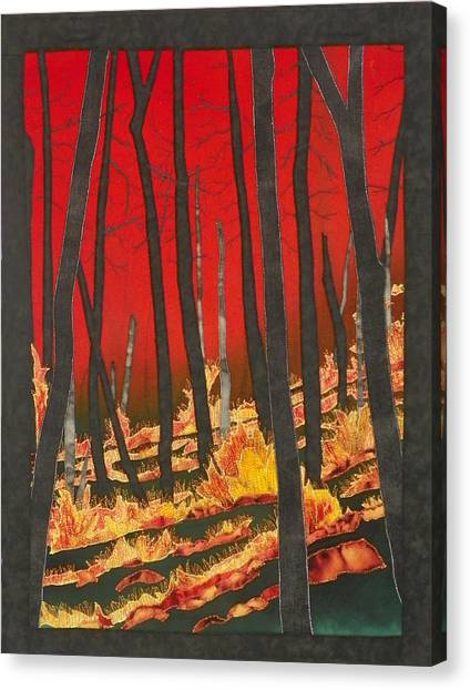 North Carolina Forests Under Fire II Canvas Print