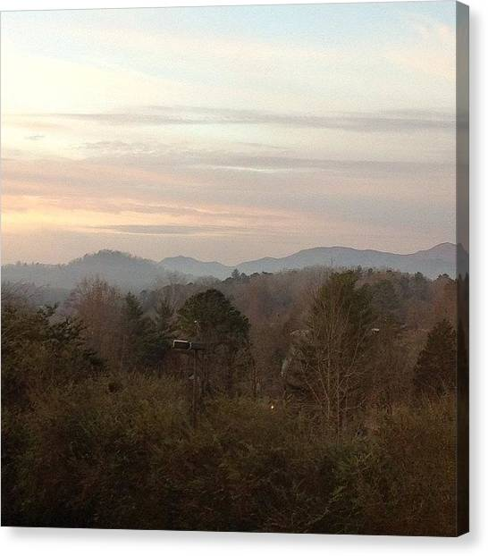 South Carolina Canvas Print - North Carolina by Megan Mjaatvedt