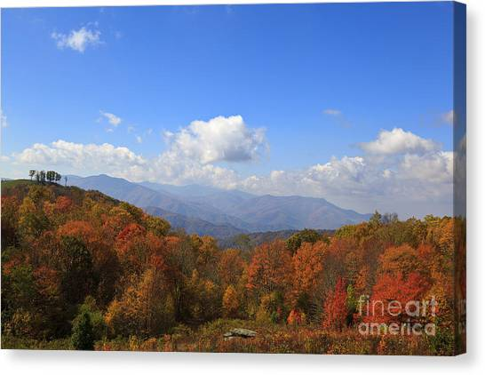 North Carolina Mountains In The Fall Canvas Print