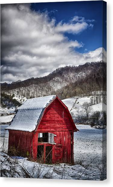 North Carolina Red Barn Canvas Print