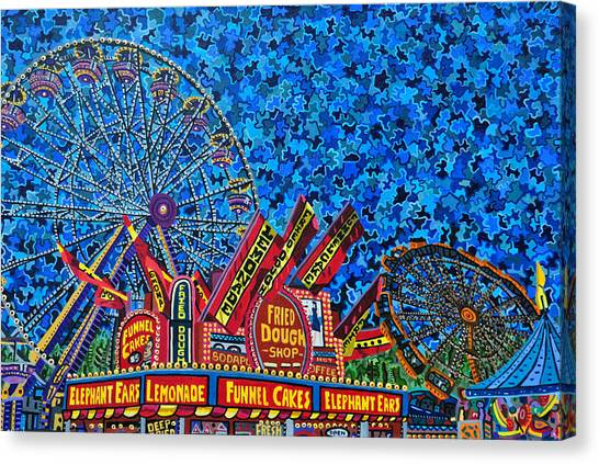 North Carolina State Fair 2 Canvas Print by Micah Mullen