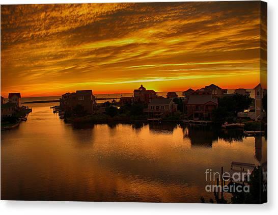 North Carolina Sunset Canvas Print