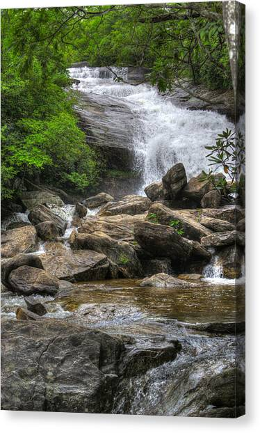 North Carolina Waterfall Canvas Print