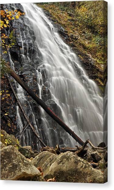 Crabtree Falls Canvas Print - North Carolina's Crabtree Falls Autumn Colors by Bruce Gourley