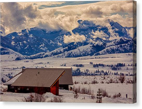 Canvas Print featuring the painting North Cascades Mountain View by Omaste Witkowski