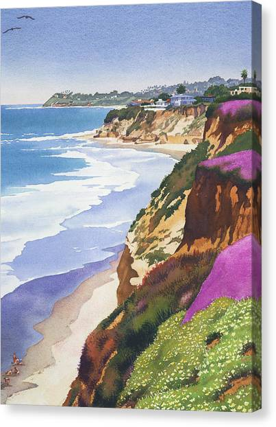 California Canvas Print - North County Coastline by Mary Helmreich