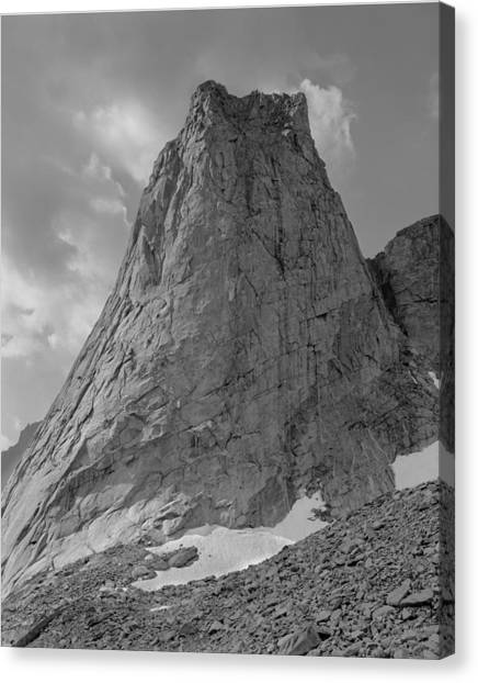 109649-bw-north Face Pingora Peak, Wind Rivers Canvas Print
