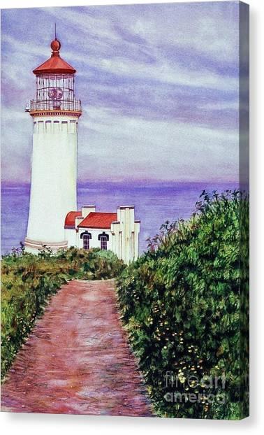 North Head Light House On The Washington Coast Canvas Print