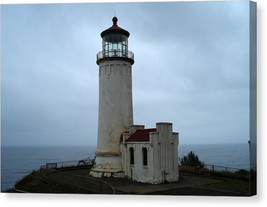 North Head Lighthouse At Cape Disappointment Canvas Print by Lizbeth Bostrom