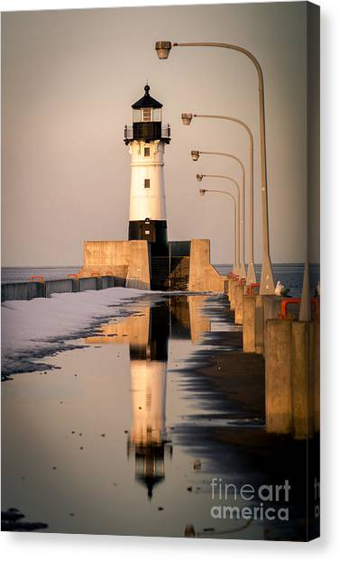 North Pier Sunset Melt Canvas Print