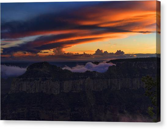 Mcherdering Canvas Print - North Rim Dusk by Mike Herdering