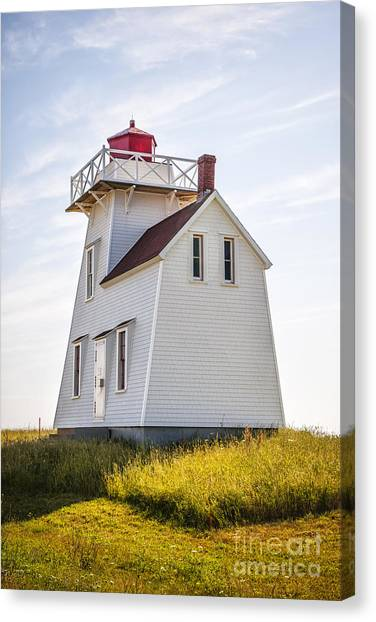 Lighthouses Canvas Print - North Rustico Lighthouse by Elena Elisseeva