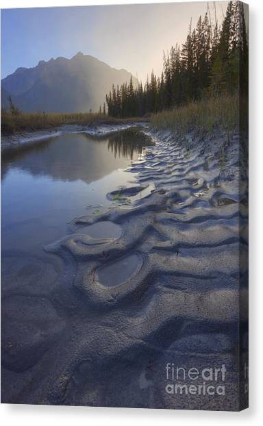 Saskatchewan Canvas Print - North Saskatchewan River Backwater by Dan Jurak