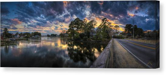 Canvas Print featuring the photograph North Shore Sunset by Williams-Cairns Photography LLC