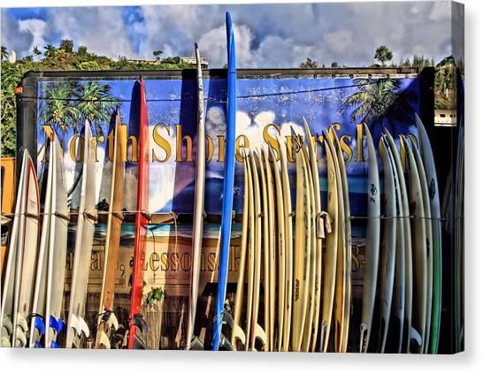 North Shore Surf Shop Canvas Print