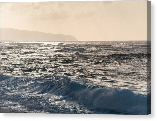 North Shore Waves Canvas Print