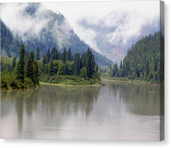 North Thompson River Canvas Print by Janet Ashworth