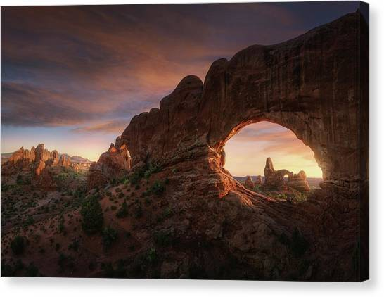 Formation Canvas Print - North Windows by Juan Pablo De