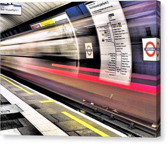 Northbound Underground Canvas Print