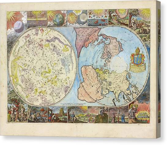 Celestial Globe Canvas Print - Northern Hemisphere Map by Lionel Pincus And Princess Firyal Map Division/new York Public Library