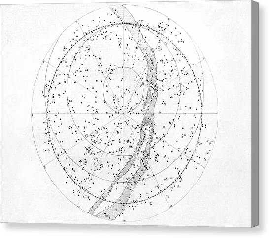 Celestial Sphere Canvas Print - Northern Hemisphere Sky Map by Royal Astronomical Society/science Photo Library